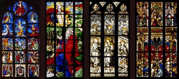 Eichstätt, Dom, Mortuarium, Weltgerichtsfenster